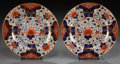 Ceramics & Porcelain, British:Antique  (Pre 1900), A PAIR OF DERBY PORCELAIN JAPAN PATTERN PLATES. Derby Porcelain Factory, Derbyshire, England, circa 1840. Marks:... (Total: 2 Items)