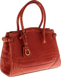 Luxury Accessories:Bags, CeCe Cord Blush Crocodile Buckle Tote Bag with Gold Hardware. ...