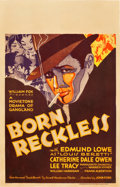 "Movie Posters:Crime, Born Reckless (Fox, 1930). Window Card (14"" X 22"").. ..."