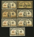 Canadian Currency: , DC-1b-i 25¢ 1870;. DC-24c 25¢ 1923 Four Examples;. DC-24d 25¢ 1923Two Examples.. ... (Total: 7 notes)