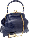 Luxury Accessories:Bags, Zac Posen Runway Blue Crocodile Alexia Bag, Retail ~$18,000....