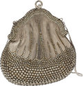 Luxury Accessories:Bags, Judith Leiber Crystal and Silver Chatelaine Minaudiere Evening Bag....