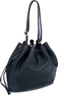 Luxury Accessories:Bags, Hermes Ardoise Gulliver Leather Drawstring Market Tote ShoulderBag. ...