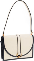 Luxury Accessories:Bags, Hermes Off-White & Indigo Calf Box Leather Envelope ShoulderBag. ...