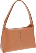 Luxury Accessories:Bags, Tod's Camel Leather Classic Hobo Shoulder Bag. ...