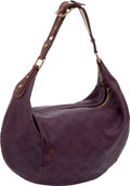 Luxury Accessories:Bags, Louis Vuitton Purple Monogram Onatah Perforated Leather Bag. ...