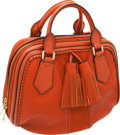 Luxury Accessories:Bags, Burberry Prorsum Tangerine Leather and Suede Hedwig Bowling Bag....