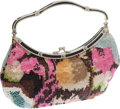 Luxury Accessories:Bags, Valentino Multicolor Crystal Evening Bag. ...