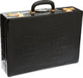 Luxury Accessories:Bags, Asprey Black Alligator Briefcase. ...