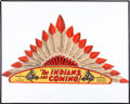 Memorabilia:Movie-Related, The Indians Are Coming! Serial Promotional Headdress (Universal,1930)....