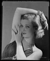 "Joan Bennett (Paramount, 1930s). Eastman Kodak Safety Negative (8"" X 9.75""). Miscellaneous"