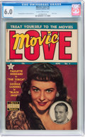 Golden Age (1938-1955):Romance, Movie Love #4 (Famous Funnies, 1950) CGC FN 6.0 Slightly brittlepages....