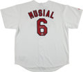 Baseball Collectibles:Uniforms, Stan Musial Signed St. Louis Cardinals Jersey. ...