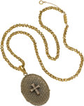 Estate Jewelry:Necklaces, Diamond, Gold Locket Necklace. ...