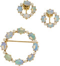 Estate Jewelry:Suites, Opal, Cultured Pearl, Gold Jewelry Suite. ...