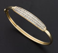 Estate Jewelry:Bracelets, Gold & Diamond Bangle Bracelet. ...