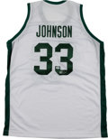 Basketball Collectibles:Uniforms, Magic Johnson Signed Michigan State Spartans Jersey. ...