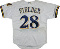 Baseball Collectibles:Uniforms, Prince Fielder Signed Milwaukee Brewers Jersey....