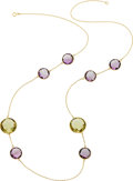 Estate Jewelry:Necklaces, Amethyst, Citrine, Gold Necklace. ...