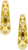 Estate Jewelry:Earrings, Diamond, Gold Earrings, Luna. ...