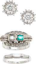 Estate Jewelry:Lots, Diamond, Emerald, Platinum, Gold Jewelry Lot. ...