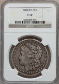 Morgan Dollars: , 1890-CC $1 Fine 12 NGC. NGC Census: (87/5565). PCGS Population (103/9975). Mintage: 2,309,041. Numismedia Wsl. Price for pr...