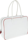 Luxury Accessories:Bags, Hermes 32cm Two-Tone White & Rouge Garrance Epsom Leather PlumeBag with Palladium Hardware. ...