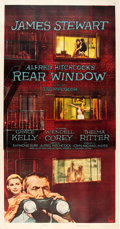 "Movie Posters:Hitchcock, Rear Window (Paramount, 1954). Three Sheet (41"" X 79"").. ..."