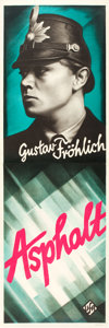 "Movie Posters:Foreign, Asphalt (UFA, 1929). German Door Panels (2) (19"" X 57"").. ... (Total: 2 Items)"