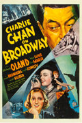 "Movie Posters:Mystery, Charlie Chan on Broadway (20th Century Fox, 1937). One Sheet (27"" X41"").. ..."