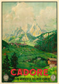 "Movie Posters:Miscellaneous, Cadore, Dolomite, Italy Travel Poster (ENIT, Late 1920s-Early1930s). Poster (27.5"" X 39"").. ..."