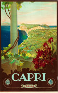 "Movie Posters:Miscellaneous, Capri, Italy Travel Poster by Mario Borgoni (ENIT, Late 1920s-Early1930s). Poster (25"" X 40.5"").. ..."