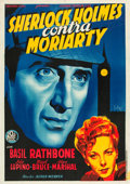 "Movie Posters:Mystery, The Adventures of Sherlock Holmes (20th Century Fox, 1939). SpanishPoster (29"" X 43"").. ..."