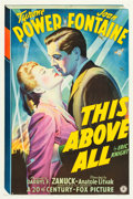 "Movie Posters:War, This Above All (20th Century Fox, 1942). One Sheet (27"" X 41"")Style A.. ..."