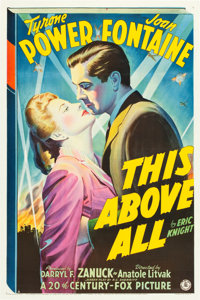 "This Above All (20th Century Fox, 1942). One Sheet (27"" X 41"") Style A"