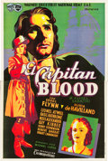 "Movie Posters:Adventure, Captain Blood (Warner Brothers, 1935). Spanish 2 Sheet (39"" X58.5"").. ..."
