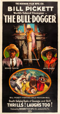 "Movie Posters:Western, The Bull-Dogger (Norman, 1921). Three Sheet (41"" X 78"").. ..."