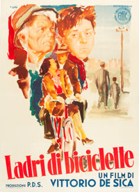 "The Bicycle Thief (ENIC, 1948). Italian 2 - Foglio (39"" X 55"")"