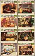 "Movie Posters:Animation, Snow White and the Seven Dwarfs (RKO, 1937). Lobby Card Set of 8 (11"" X 14""). From the Leonard and Alice Maltin Collection... (Total: 8 Items)"