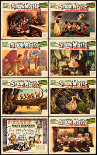 """Snow White and the Seven Dwarfs (RKO, 1937). Lobby Card Set of 8 (11"""" X 14""""). From the Leonard and Alice Malti..."""