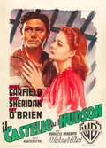"Movie Posters:Crime, Castle on the Hudson (Warner Brothers, 1949). Italian 2 - Foglio(39"" X 55""). Crime.. ..."