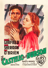 "Castle on the Hudson (Warner Brothers, 1949). Italian 2 - Foglio (39"" X 55"")"