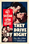 "Movie Posters:Drama, They Drive by Night (Warner Brothers, 1940). One Sheet (27"" X 41""). From the Leonard and Alice Maltin Collection.. ..."