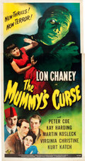 "Movie Posters:Horror, The Mummy's Curse (Universal, 1944). Three Sheet (41"" X 81"").. ..."