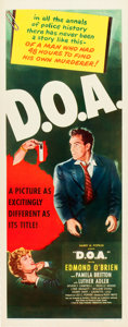 "Movie Posters:Film Noir, D.O.A. (United Artists, 1950). Insert (14"" X 36"").. ..."
