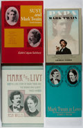 Books:Literature 1900-up, [Mark Twain]. Group of Four Books Relating to Twain. Various, 1965-1992. Very good.... (Total: 4 Items)