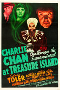 "Movie Posters:Mystery, Charlie Chan at Treasure Island (20th Century Fox, 1939). One Sheet(27"" X 41"").. ..."
