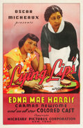 "Movie Posters:Drama, Lying Lips (Micheaux Film Corporation, 1939). One Sheet (27"" X41"").. ..."