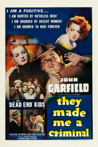 """They Made Me a Criminal (Warner Brothers, 1939). One Sheet (27"""" X 41"""")"""