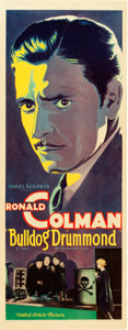 "Movie Posters:Mystery, Bulldog Drummond (United Artists, 1929). Insert (14"" X 36"").. ..."